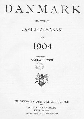 Familiealmanakken 1904 Titelblad