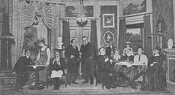 """Opførelse af """"Et Sølvbryllup"""" på Odense teater 1916"""