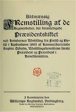Som Sophie Oxholm så forløbet omkring sin afsættelse som præsident.