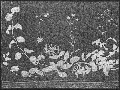Fig 161 - Hjørne af Fru Georgia Skovgaards Brudeslør, tegnet af hendes Mand.