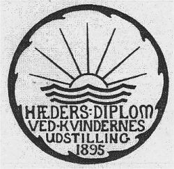 Fig 156 - Udstillingens Hædersdiplom.