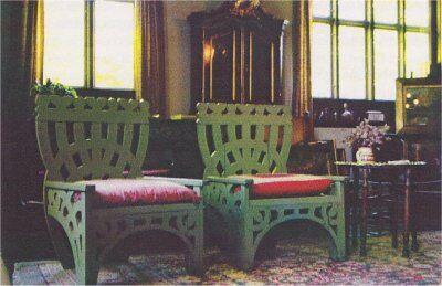 Meget beundrede stole, som nu står  i Michael og Anna Anchers Hus i Skagen.