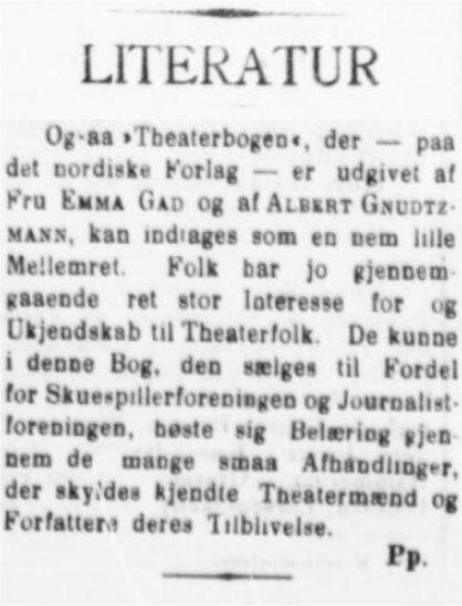 JyllandsPosten 6. december 1901