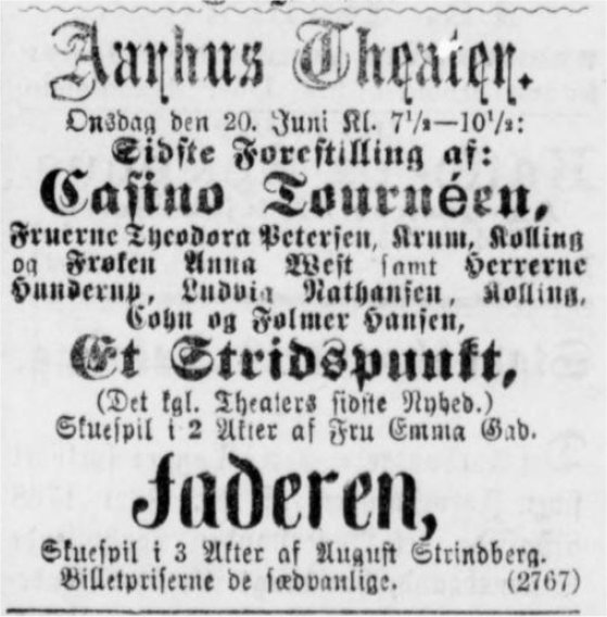 20. juni 1888 Jyllands Posten
