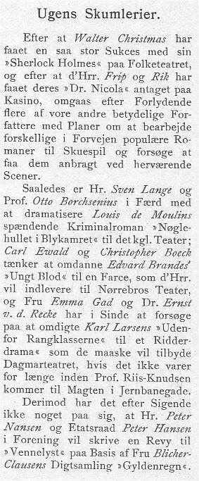 Klods Hans 9. marts 1902