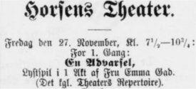 Horsens Folkeblad 27. november 1891