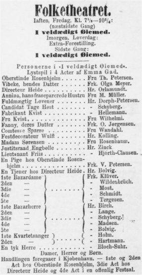 Annonce fra Adresseavisen 15. januar 1892