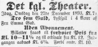 Adresseavisen 27. december 1893