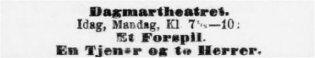 1896 11 30 Adresseavisen Et Forspil