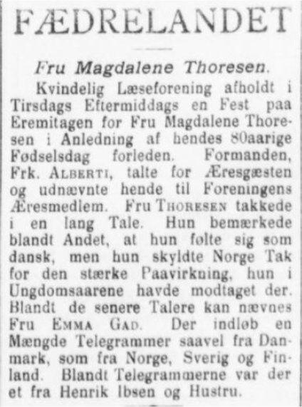 Jyllands Posten 8. juni 1899