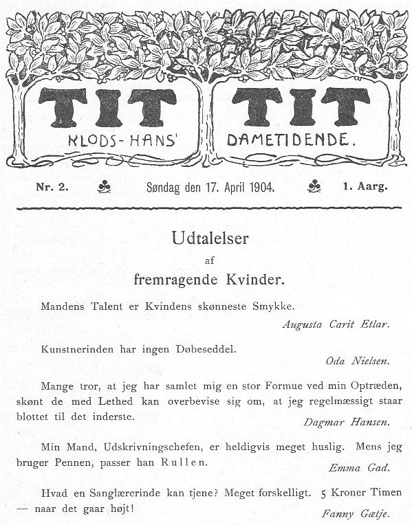 Klods Hans 17. april 1904