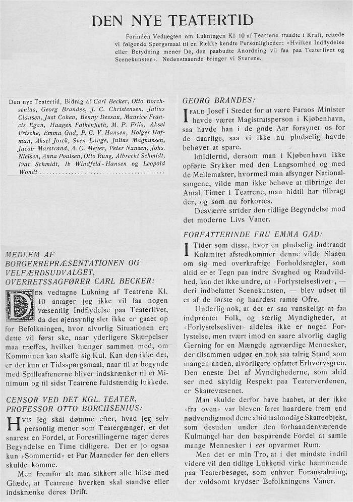 teatret februar I 1917 teatertid