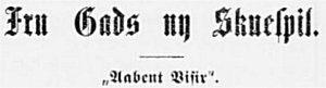 Aarhus Stiftstidende 2. maj 1898