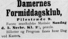 Nationaltidende 29. oktober 1899.