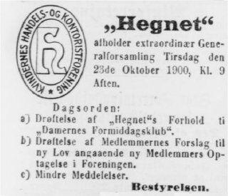 Berlingste 16. oktober 1900.