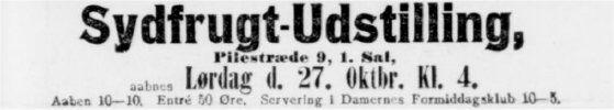 Annonce fra Dagens Nyheder 26. oktober 1900
