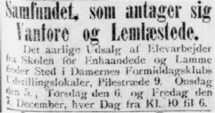 Dagens Nyheder 6. december 1900. Lejet lokaler.