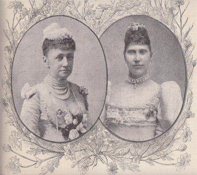 Dronning Louise og kronprinsesse Louise. Kvindeudstillingens Protektor og Ærespræsident.