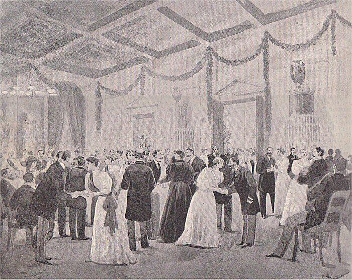 Kvinderne tog sig pænt af verdenspressen på udstillingen.
