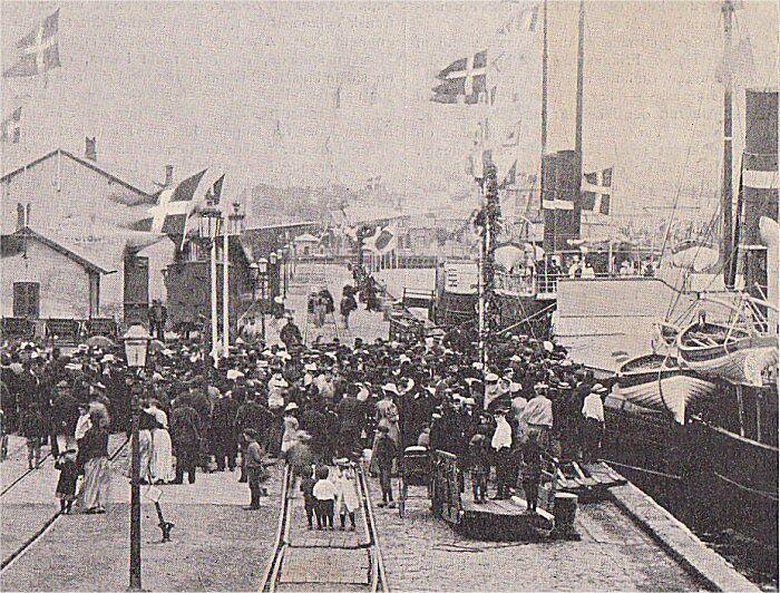Verdenspressen ankommer til Korsør den 24. juni 1895