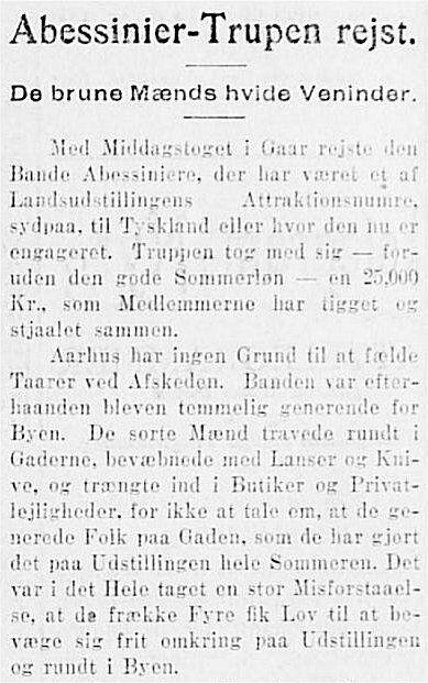 JyllandsPosten 10. oktober 1909.