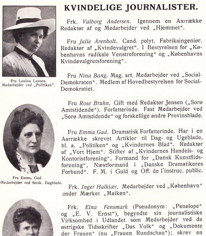 kvindeligejournalister
