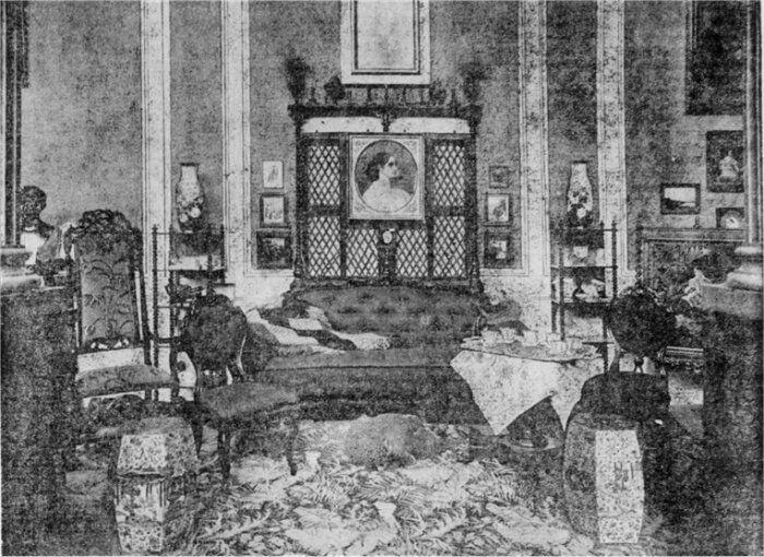 Dagens Nyheder, 4. november 1909. Interiør fra Heiberg-Udstillingen.