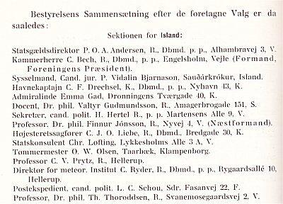 Den islandske bestyrelse.