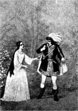 Kong Renés Datter. Tristan: M. Wiehe. Jolanthe: Fru Heiberg.