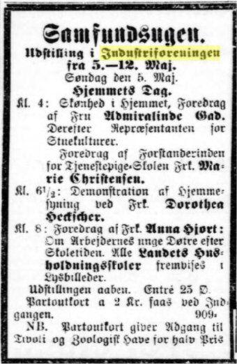 Annonce, Social-Demokraten 5. maj 1907.