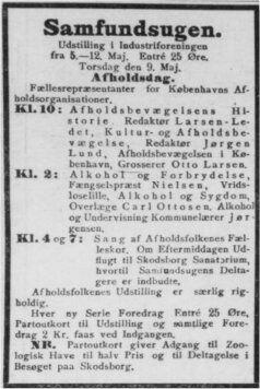 Annonce Dagens Nyheder, 9. maj 1907.