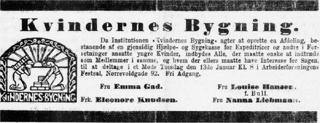 Adresseavisen, 8. januar 1898.