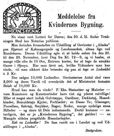 Kvinden og Samfundet, 1898, nr. 11.