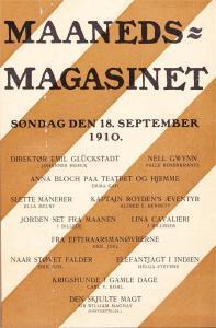 Maaneds-Magasinet, 18. september 1910.