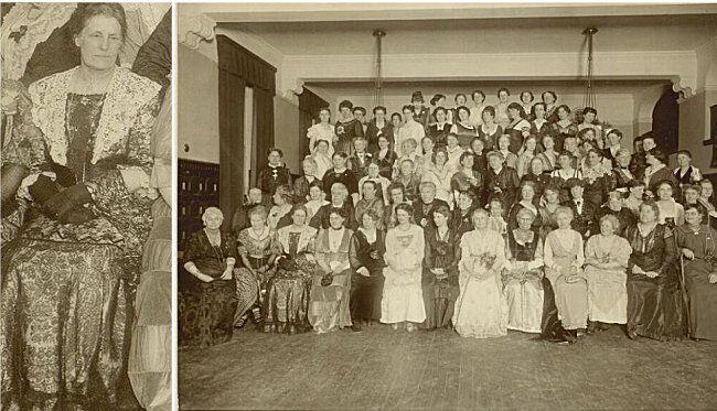 Kvindelig Læseforenings 40  års jubiæum, 1. oktober 1912.(Foto: Det Kongelige Bibliotek - Neg. 165943)
